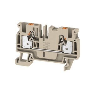Weidmuller Klippon 4mm² A2C 4 Push-In Feed-Through Terminal Block 32A 800V Dark Beige (Pack of 100)