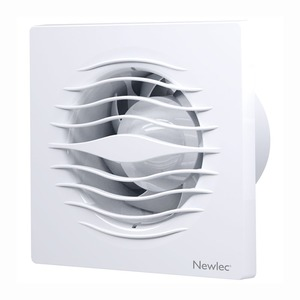 Newlec Low Profile Backdraught Shutters 100mm Fan with Pull cord & Humidistat - SELV