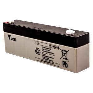 Yuasa Yucel 12V 2.1Ah Lead Acid Battery 178 x 34 x 64mm