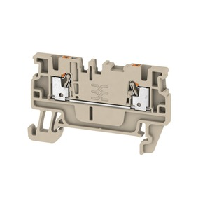 Weidmuller Klippon 1.5mm² A2C 1.5 Push-In Feed-Through Terminal Block 17.5A 500V Dark Beige (Pack of 100)