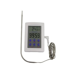 -50 to 300°C/F Digital Probe Thermometer with Timer 97 x 65 x 20mm