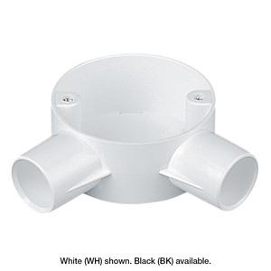 Marshall-Tufflex PVC-U Angle Box 2-Way 25mm Black