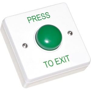Newlec Surface Mount Green Dome Exit Button 85 x 85 x 30mm