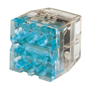 Ideal In-Sure 6-Port 0.75-4mm² Push-In Wire Connector Blue