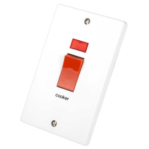 Crabtree 2-Pole Cooker Control Switch with Neon 50A