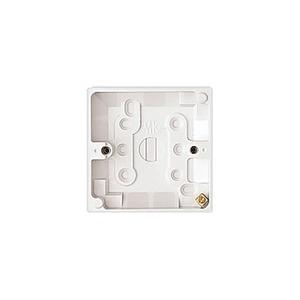 MK Electric Surface Mount Back 1-Gang Box 87 x 87 x 44mm White