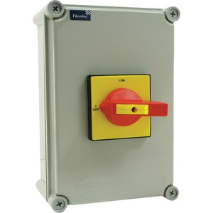 Newlec 4-Pole 100A Insulated Enclosed Switch Disconnect 280 x 190 x 130mm