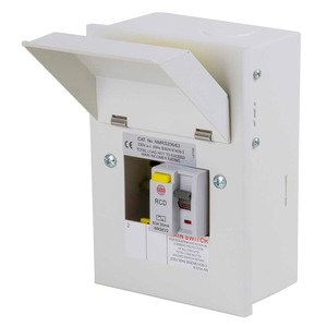 Wylex Metal RCD Consumer Unit 2-Way 63A 30mA 130 x 185 x 104mm
