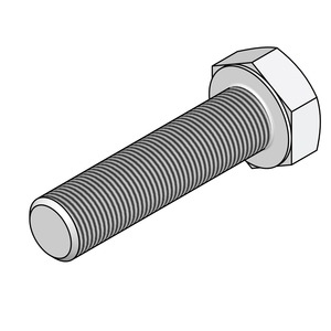 Newlec Hex Set Screw - HT8.8 M6 x 20mm