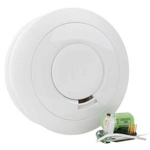 Ei Electronics 85dB Plastic Optical Smoke Alarm with 3V Battery 115 x 50mm White
