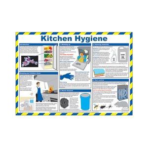 Kitchen Hygiene Guidance Poster 590x420mm