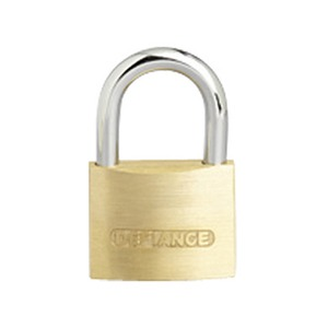 Solid Low Security Padlock 40mm Brass/Chrome