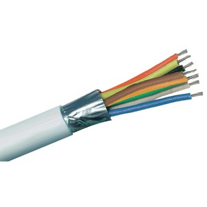 8-Core Coaxial Cable 100m White