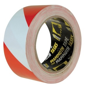 Hazard Warning Self Adhesive Floor Tape 50mm x 33m Red/White