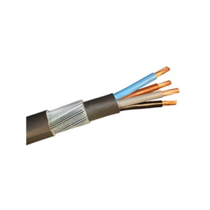 6944XLH 10.0mm² 4-Core Steel Wire Armoured Cable Black