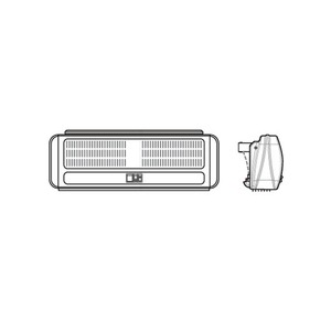 3kW 212m/h Multi-Directional Warm Air Curtain with Remote Control White
