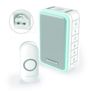 Honeywell Series-3 100/240V 84dB 6-Tune 150m Wirefree Chime Kit White