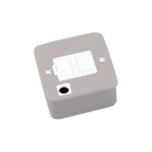 Newlec Switched Flex Outlet Metalclad Fused Connection Unit 13A Grey