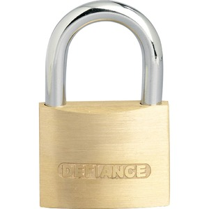 Solid Low Security Padlock 50mm Brass/Chrome