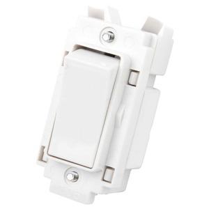 Crabtree Rocker Grid Switch 2-Pole 20A White