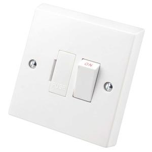 Volex Switched Fuse Connection Unit 2-pole 13A White