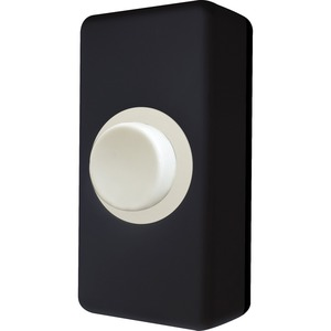 Basics Standard Polycarbonate Push Bell IP20 28 x 18 x 55mm Black/White