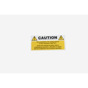Mixed Cable Caution Notice Self Adhesive Vinyl 10 Pack 130x60mm