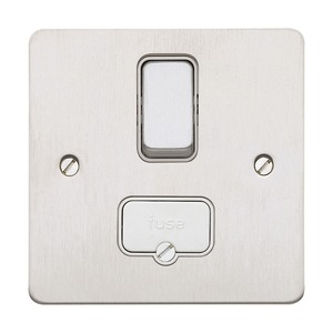 MK Electric Switched Fuse Connection Unit 1-Gang 2-Pole 13A White
