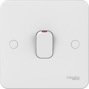 Schneider Lisse Decorative Switch with LED 1-Gang 2-Pole 20A White