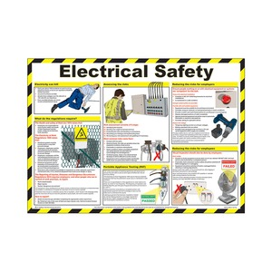 Electrical Safety Guidance Poster A2 590x420mm