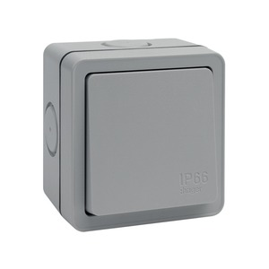 Hager Sollysta Wall Switch 1-Gang 2-Way 10A White