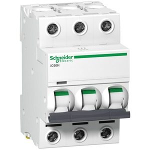 Schneider Acti9 iC60H 3-Pole 32A Curve-C Miniature Circuit Breaker 10/30/15kA