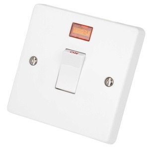 Crabtree Control Switch with Neon 1-Gang 2-Pole 32A