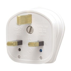MK Electric Safety Plug 3-Pin 13A White