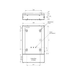 Memshield 3 4-Way Type-B Distribution Board 3P+N 440 x 429 x 130mm