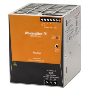 Weidmüller PROeco3 480W 20A Power Supply 24V AC/DC 100 x 125 x 120mm