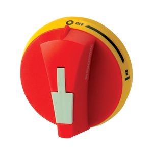 Socomec NEMA-3R/12 External Operation Handle 3-Pole 25A Red/Yellow
