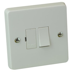 Crabtree Fridge Switched Fuse Connection Unit 1-Gang 2-Pole 13A White