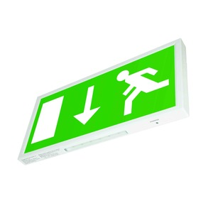 Newlec ISO Legend Arrow Down LED Wall Exit Sign IP20