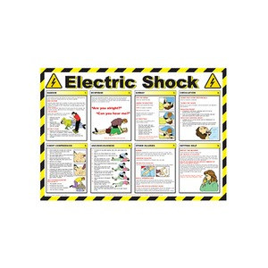 Electric Shock Guide Safety Poster 600x420mm