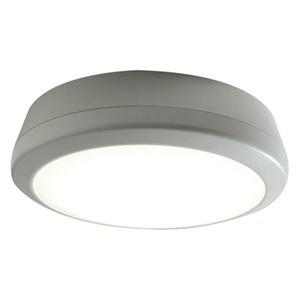 Luceco Atlas 15W 1700lm LED Bulkhead Luminaire with 3h Microwave Sensor 4000K Grey