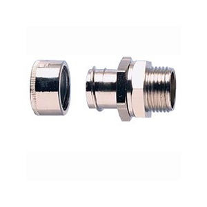ABB Adaptaflex Nickel-Plated Brass Type-B Straight Fitting Adaptor M25 x 46mm Silver