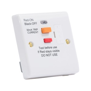 Newlec RCD Protected Fused Connection Unit 13A 250V AC 30mA White