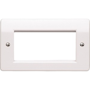 MK Electric Edge 2-Module Euro Modular Front Plate 50 x 100mm White