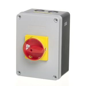 Newlec 4-Pole 63A Insulated Enclosed Switch Disconnect 175 x 125 x 90mm