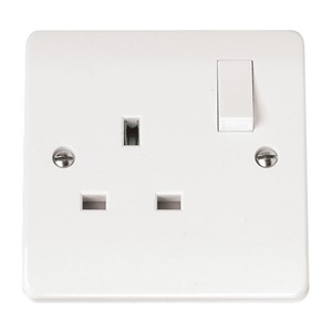 Scolmore CLICK MODE Switched Socket Outlet 1-Gang 2-Pole 13A