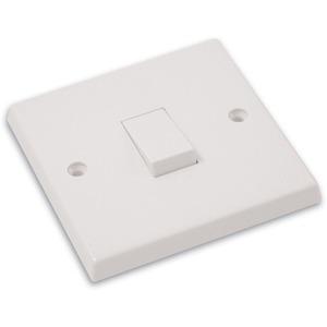Volex Wall Switch 1-Gang 2-Way 10A White