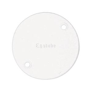 Newlec Round PVC Conduit Circular Lid White