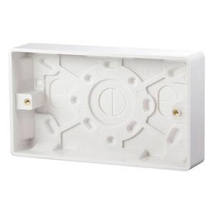 Scolmore CLICK MODE Pattress Box 2-Gang 146 x 86 x 25mm White