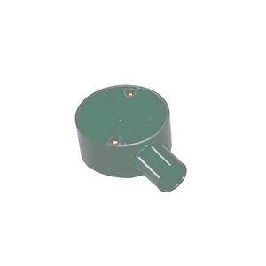 Newlec Round PVC Conduit Terminal Box 1 Way 20mm White